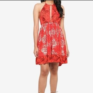 Free People Beach Day Mini Dress, Small in Red.